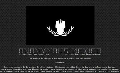 anonymous launches cyber attack against jihadist website in first anonymous launch cyber attacks targeting mexican government