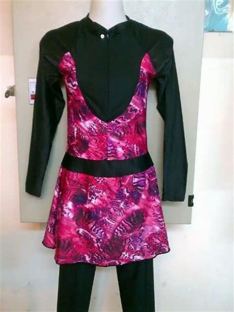 Celana Renang Unik kode brmd1308 harga idr 175 000 baju renang muslimah dewasa berwarna dasar hitam kombinasi