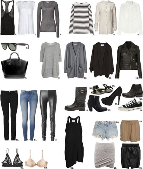 Wardrobe Essentials by A Capsule Wardrobe
