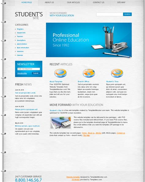 free education web template template