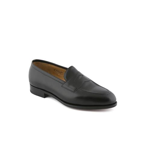 edward green piccadilly loafer edward green piccadilly loafer in black calf with trim