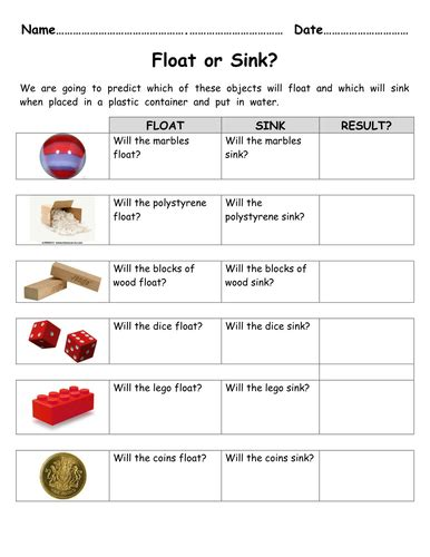 the open boat lesson plan forces float or sink worksheet for investigation by