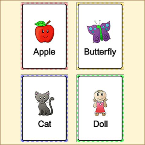 printable first words flashcards for toddlers flash cards for children