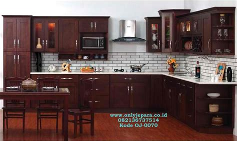 Per Meter Kitchen Set jual kitchen set kabinet jati permeter set kitchen
