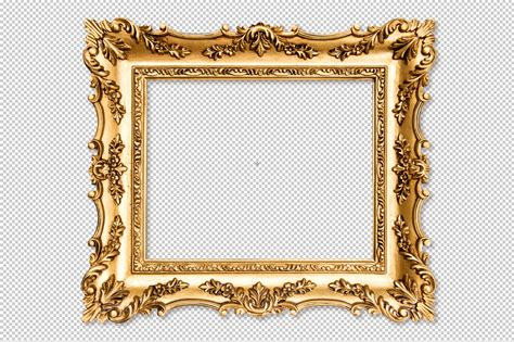 antike rahmen baroque golden picture frame png objects on creative market