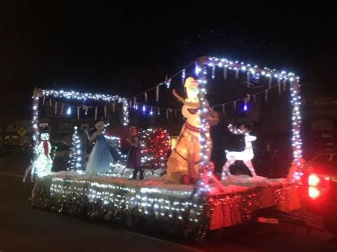 christmas light parade brightens kanab st george news