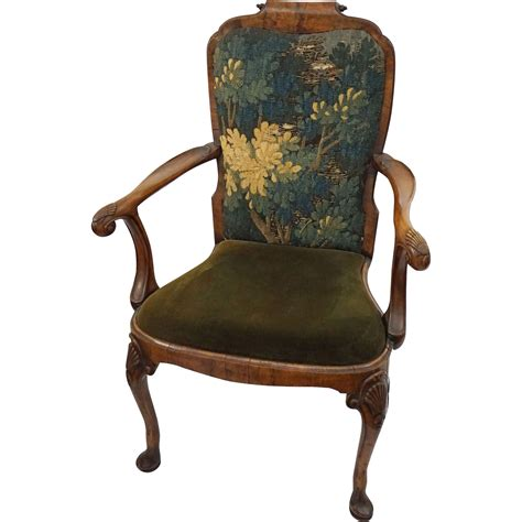 queen anne armchair uk antique walnut armchair queen anne style carved shell