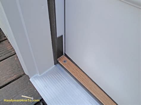 Sealing Exterior Door Threshold How To Replace An Exterior Door Part 4