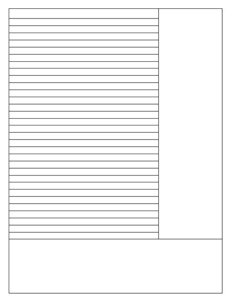 Note Sheet Template by Taking Notes The Cornell Way 183 Notes From A Floating