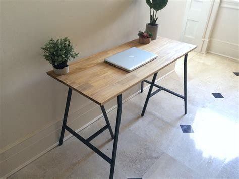 long narrow desk ikea long narrow desk on ikea legs choose any size free