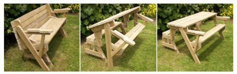 plans for picnic table bench combo september 2016 genuine woodworking projects