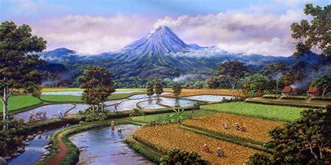 wallpaper indah nya alam gambar lukisan pemandangan