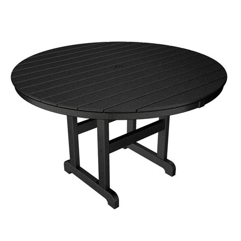 trex outdoor furniture monterey bay 48 in charcoal black