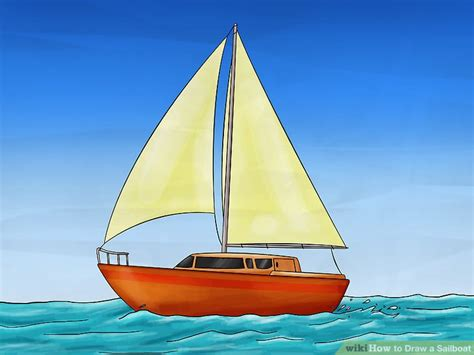how to draw a boat from the first fleet how to draw a sailboat 7 steps with pictures wikihow