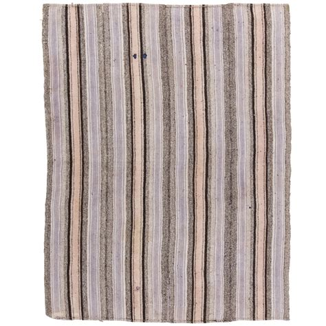 flat woven wool rug striped cotton and wool anatolian kilim flat woven rug for sale at 1stdibs