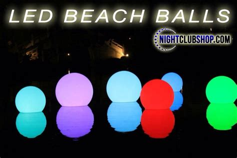 light up pool balls beach and pool products nightclubshop com