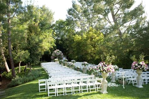 elegant backyard weddings elegant backyard wedding with romantic floral design in california inside weddings