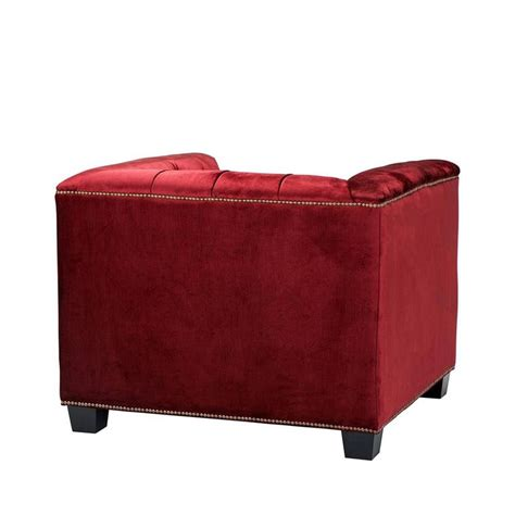 red fabric armchair edmond armchair with essex red fabric in wooden structure