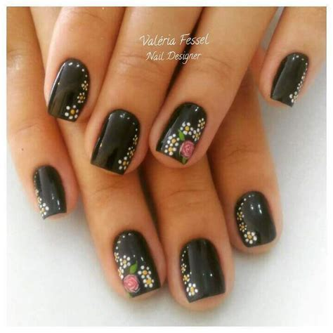 easy nail art designs on black base 100 black nail art designs 2017 2018 nail art designs