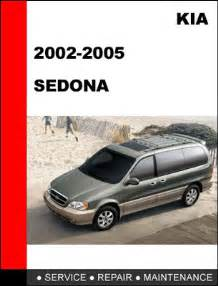 kia carnival sedona 2002 2005 workshop service repair