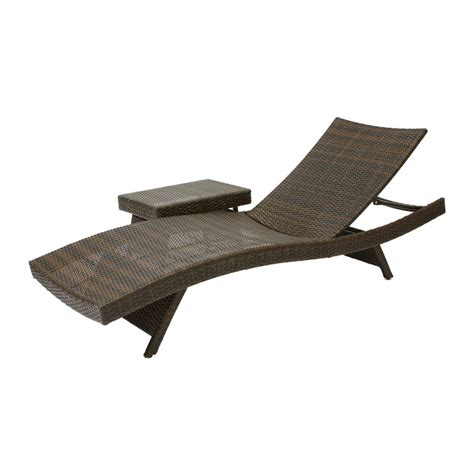 Chaise Patio Lounge Chairs Best Selling Home Decor 253964 Lounge Chair Table Lowe S Canada