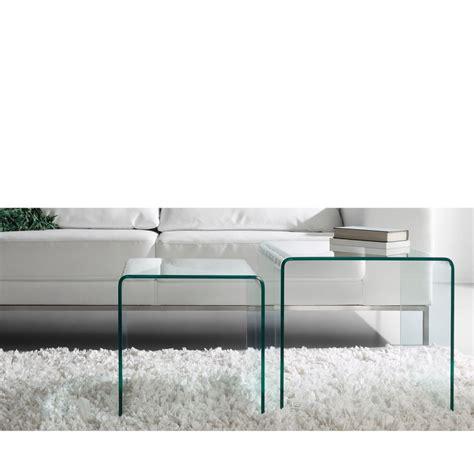 table en verre tables basses gigogne en verre burano par drawer fr