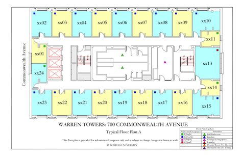 Bath Floor Plans by Warren Towers Floor Plans 187 Housing Boston University