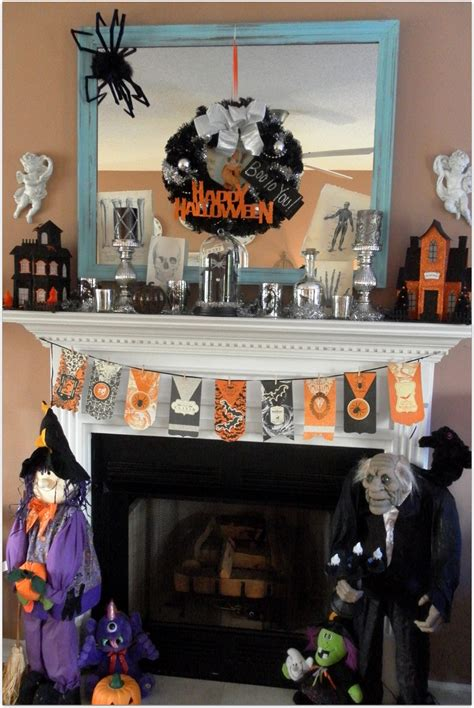 decorating your home for halloween fresh halloween fireplace decorating ideas 80 for home
