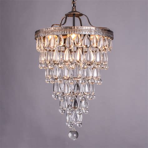 Retro Antique Cooper Crystal Drops Chandeliers Large Restoration Chandeliers