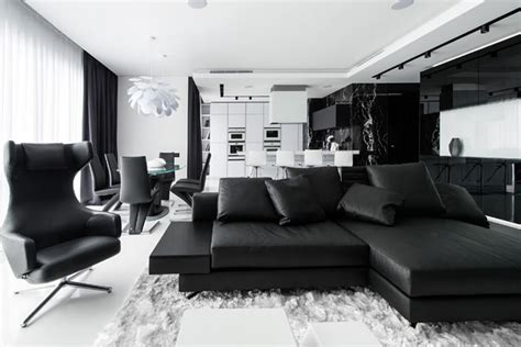 white interior design ideas black and white interior design ideas modern apartment by