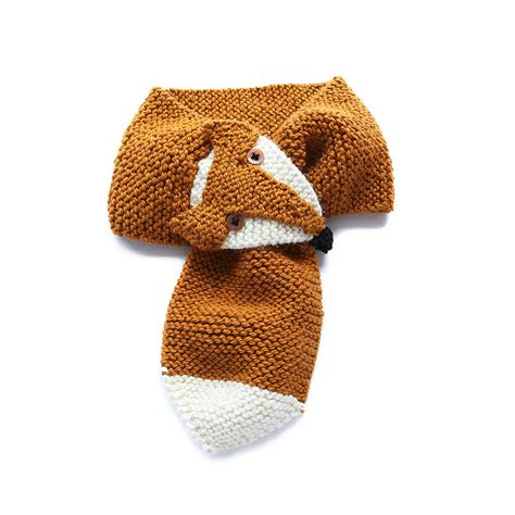 woodland fox scarf by picaloulou notonthehighstreet