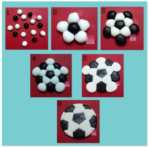 How To Make A 3d Football Out Of Paper - easy soccer topper cakesdecor caketemplates and