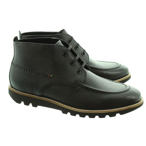 kickers mens kymbo moccasin boots in black in black