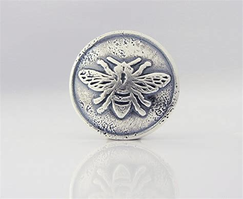 Handmade Button - one handmade button clasp bc6s sterling silver bee button