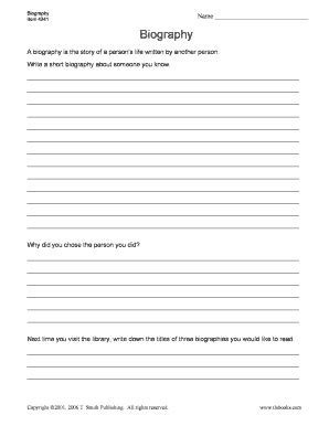 online biography form next time you visit the library write down the titles of