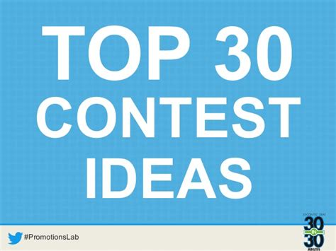 contest themes 30 contest ideas in 30 minutes