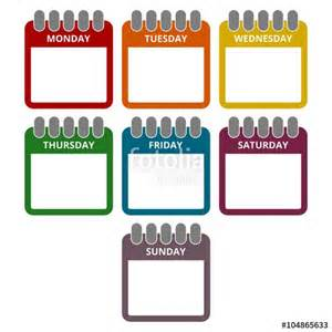 quot days of the week calendar sheets with the days of the