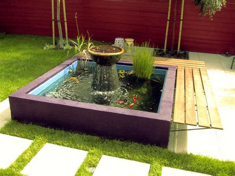 small backyard koi pond 10 refreshing container water features landscaping ideas