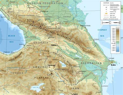 cmu cus map caucasus