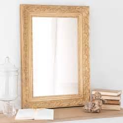 miroir en bois de paulownia dor 233 h 70 cm