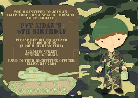 Free Camo Birthday Card Template by Like Verbiage Bootc Bday Bash Birthday
