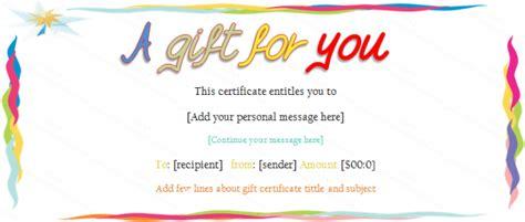 elegant borders gift certificate template