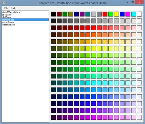 reading photoshop color swatch aco files using c articles and information on c and net