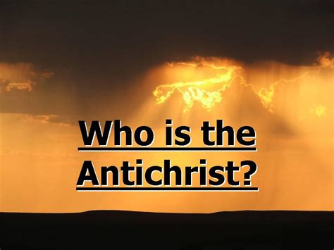 Who Is The How The Antichrist Plans To Rule The World Though Cashless