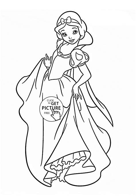 snow princess coloring pages disney princess snow white coloring page for kids disney