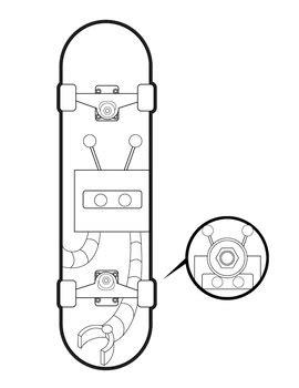 skateboard designs coloring pages skateboard design coloring pages images sketch coloring page