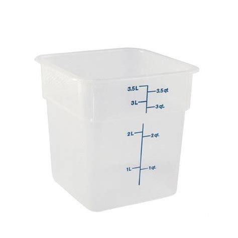 kitchen food storage containers cambro 4sfspp190 4 qt camsquare 174 food storage