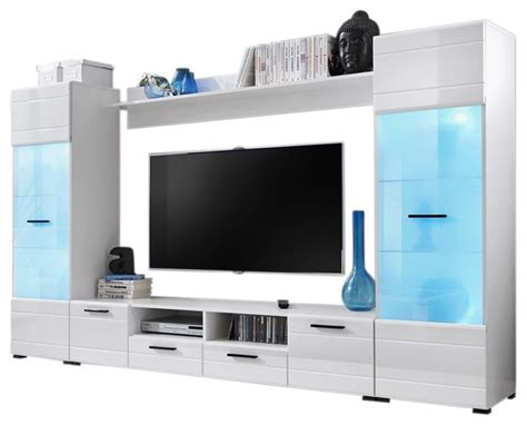 entertainment center with led lights modern entertainment center wall unit with 15 colors led