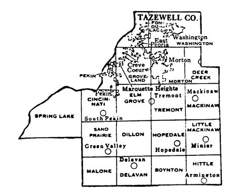 Tazewell County Il Records Tazewell County Illinois Maps And Gazetteers