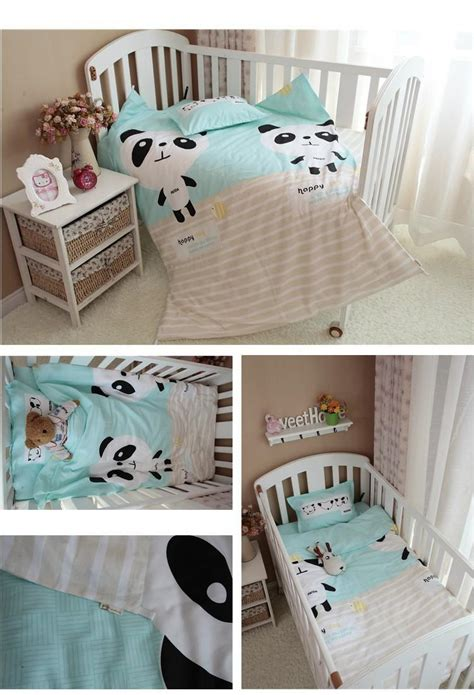 panda crib bedding baby bedding set 3pcs set crib bedding set cute panda